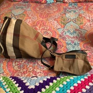 Authentic Burberry Medium Bucket Bag